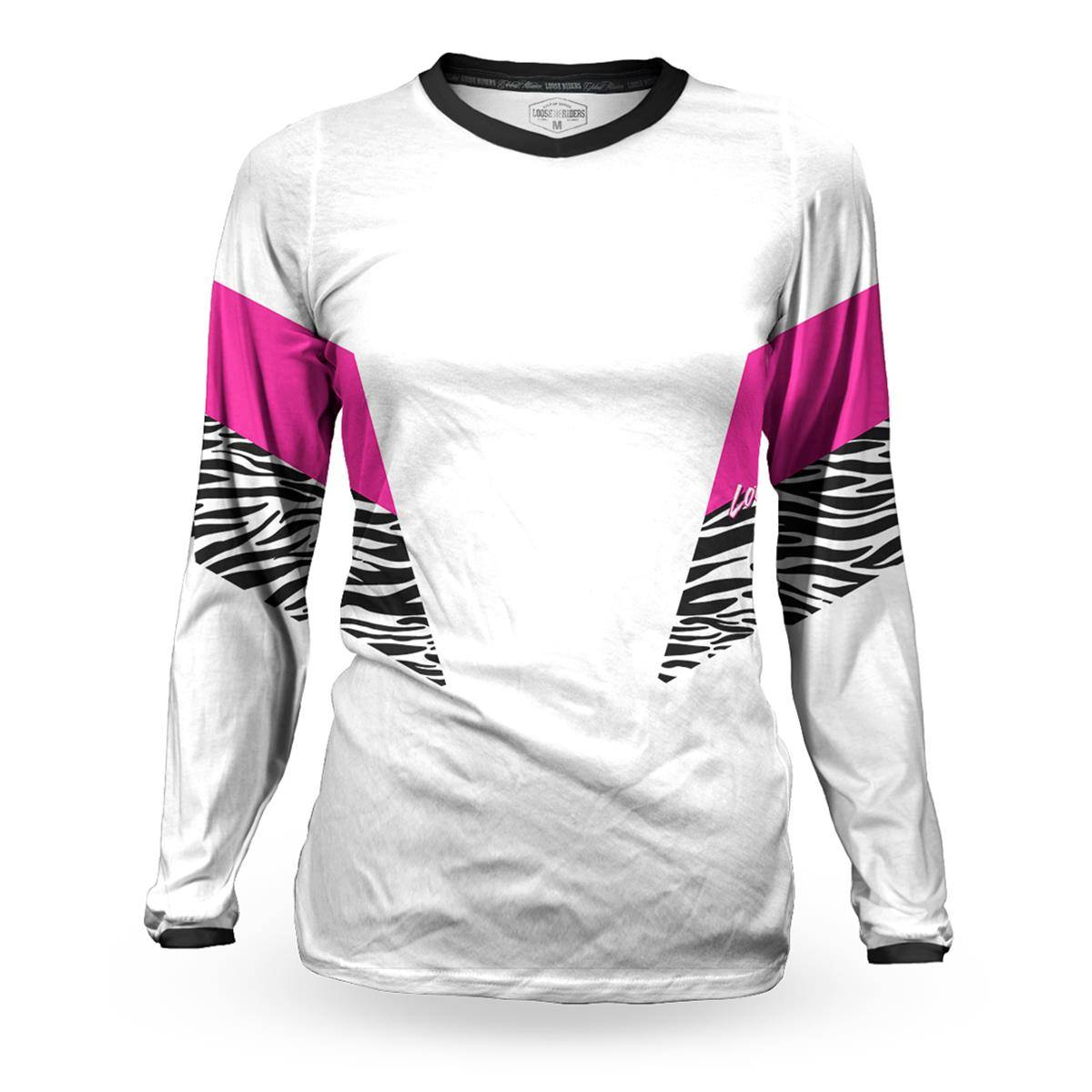Loose Riders Femme Maillot VTT Manches Longues Cult of Shred - L - Blanc