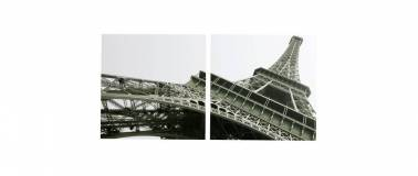 Miliboo Lot de 2 tableaux design EIFFEL