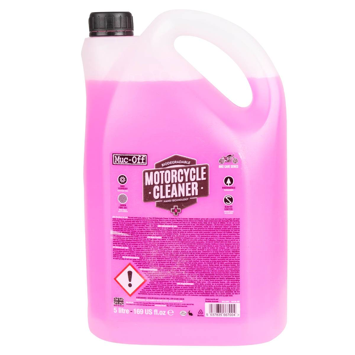 Muc-Off Nettoyant Moto Bike Cleaner - 5 Litre - Rose